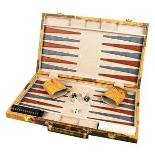 18 Leatherette Backgammon set with Beautiful Old World Map Design