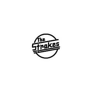 THE STROKES BAND WHITE LOGO VINYL DECAL STICKER