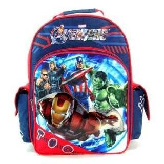Marvel AVENGERS Movie Iron Man Captain America Hero Large Backpack Bag
