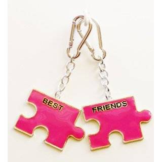Teal BFF, Best Friends Forever, 2 Pack Bag Clip Charms