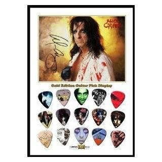 Alice Cooper New Gold Edition Guitar Pick Display With 15 Guitar Picks