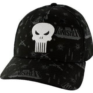 Marvel Comics PUNISHER Skull Print Baseball Cap HAT
