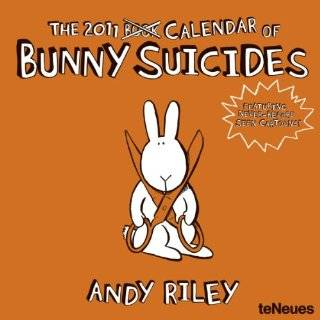 : Bunny Suicides Postcards 2011 Easel Desk Calendar: Office Products