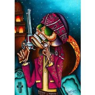 Clavo by Dave Sanchez Mexican Romeo and Juliet Sugar Skulls Fine Art