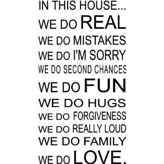 IN THIS HOUSE WE DO LOVE QUOTE VINYL WALL DECAL WORDS