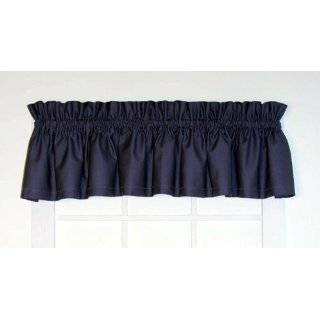 Dayita Solid Color Tailored Valance Curtain 80 Inch by 13 Inch, Black