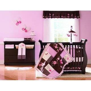 Pink and Chocolate Teddy Bear Baby Girls Bedding 9pc Crib