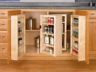 Rev A Shelf 4WDP18 45 45 Pantry Door Unit (w/Hardware) Single   Wood   Maple