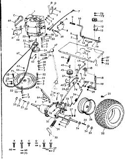 T24784994 Put deck belts white outdoor lt1650 as well Mtd Yardman Riding Mower Wiring Diagram in addition Toro Mower Belt Diagram besides How to replace drive belt on Craftsman riding mower moreover Craftsman Tiller Parts Model Sears Partsdirect. on wiring diagram for yardman riding mower
