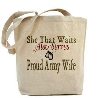 ARMY WIFE POEM Tote Bag by 7577