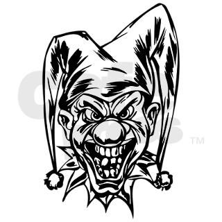 Angry Clown Gifts > Angry Clown Stickers > Evil Clown Rectangle