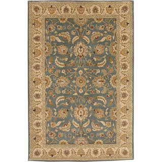 Hand tufted Beige/ Blue Wool Rug (5 x 8)