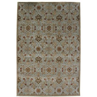 Hand tufted Malcais Blue Wool Rug (5 x 8)