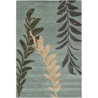 Hand tufted Chlorus Blue Wool Rug (8 x 11)
