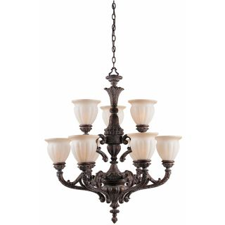 Sultan 9 light Bronze Oro Chandelier