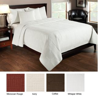 Dover Whisper White Full/ Queen Quilt Set (Open Box)