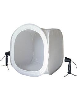 HiRO 24 inch Portable Photo Studio Cube and 50W Lights