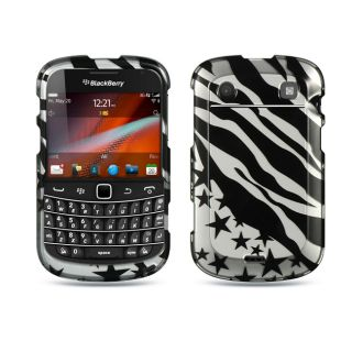 Premium BlackBerry Bold Touch 9900/ 9930 Zebra Star Protector Case