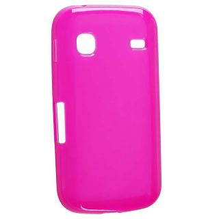 Clear Hot Pink TPU Rubber Skin Case for Samsung Galaxy Gio S5660