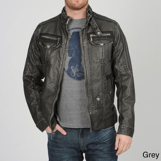 RAY Jeans Mens PU Moto Jacket