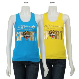 Ed Hardy Womens Tiger Racer Tank Top