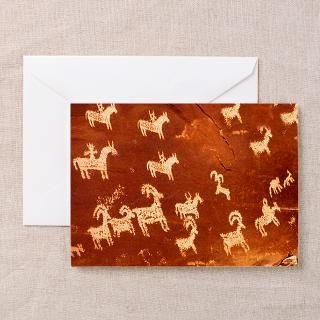 Atlatl Rock Petroglyphs Greeting Card