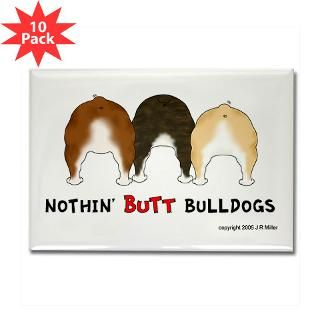 Nothin Butt Bulldogs Rectangle Magnet (10 pack)