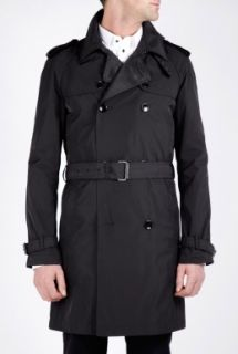 D&G  Black Grosgrain Detail Trench Coat by D&G