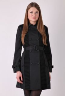 Black Double Breasted Trench Coat by Pringle 1815   Black   Buy Coats Online