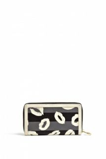 Marc by Marc Jacobs  Lips Print Slim Zip Around Wallet by Marc By Marc Jacobs