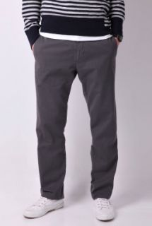 Anthracite Cotton Straight Leg Chino by CP Company   Grey   Buy Trousers Online