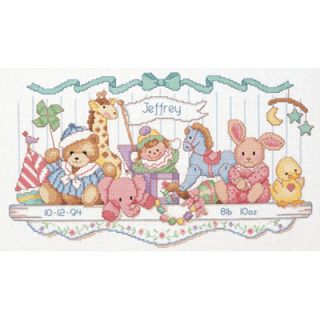 Dimensions Counted Cross Stitch Kit   Toy Shelf Birth Record