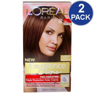 LOreal Excellence Creme Pro   Keratine Hair Color   Dark Auburn #4R