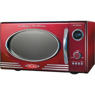 Nostalgia Electrics RMO400 Retro Series .9 Cu Ft 800W Microwave Oven