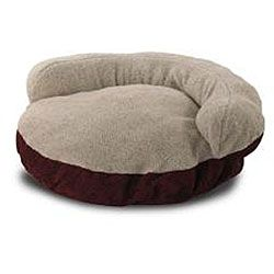 Burgundy 42 inch Microsuede Pet Bed