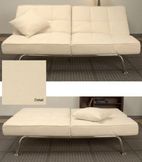 New Yorker Cream Microsuede Sofa Bed
