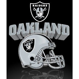 Oakland Raiders Lightweight 50 x 60 Fleece Blanket   Reflecting