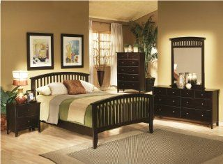 Capuccino Contemporary Bedroom Set   Coaster 200471: Home