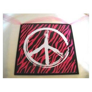 Peace Sign Hot Pink Black Teen Bedroom Wall Art: Explore similar items