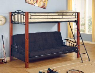 Coaster Bunk Bed with Futon Convertible, Twin: Home & Kitchen