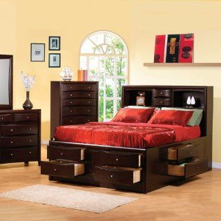 Phoenix Eastern King Bed Storage by Coaster Furniture