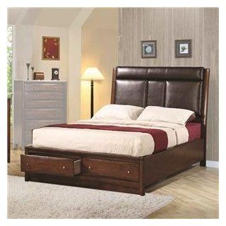 King Upholstered Storage Platform Bed by Coaster: Home & Kitchen