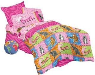 7pc Animals Bedding Set   Full Size Pink Bed in a Bag: Home & Kitchen