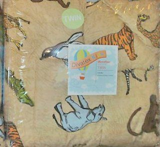 Jungle Safari Zoo Animals Twin Comforter: Home & Kitchen