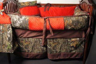 Custom Made Baby Crib Bedding Mossy Oak break up camo red