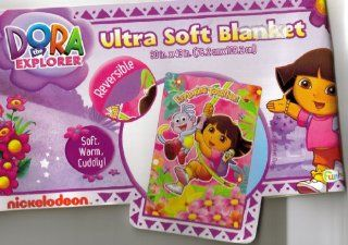 Ultra Soft Blanket, Girls, Bedding, Reversible New: Home & Kitchen