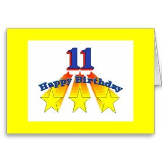 Happy Birthday 11 year old Invitation Greeting Card