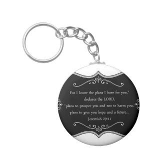 Jeremiah 29:11 Custom Christian Gift Key Chain