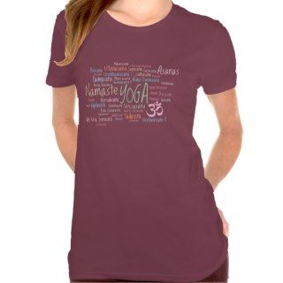 Names of Yoga Positions and Om Symbol Namaste Shirts
