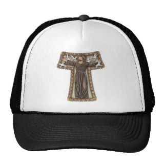 St. Francis in Tau Cross Mesh Hats